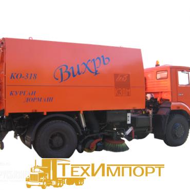 Подметально-уборочная машина КО-318 (две всасывающие шахты)