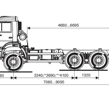Сортиментовоз на шасси КАМАЗ 65111-3090-42 ЕВРО 4