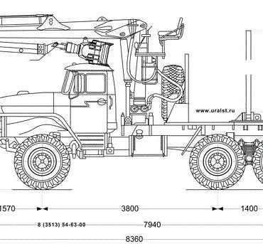 Лесовозный тягач УСТ-5453 с КМУ